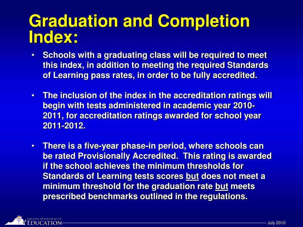 Graduation and Completion Index: