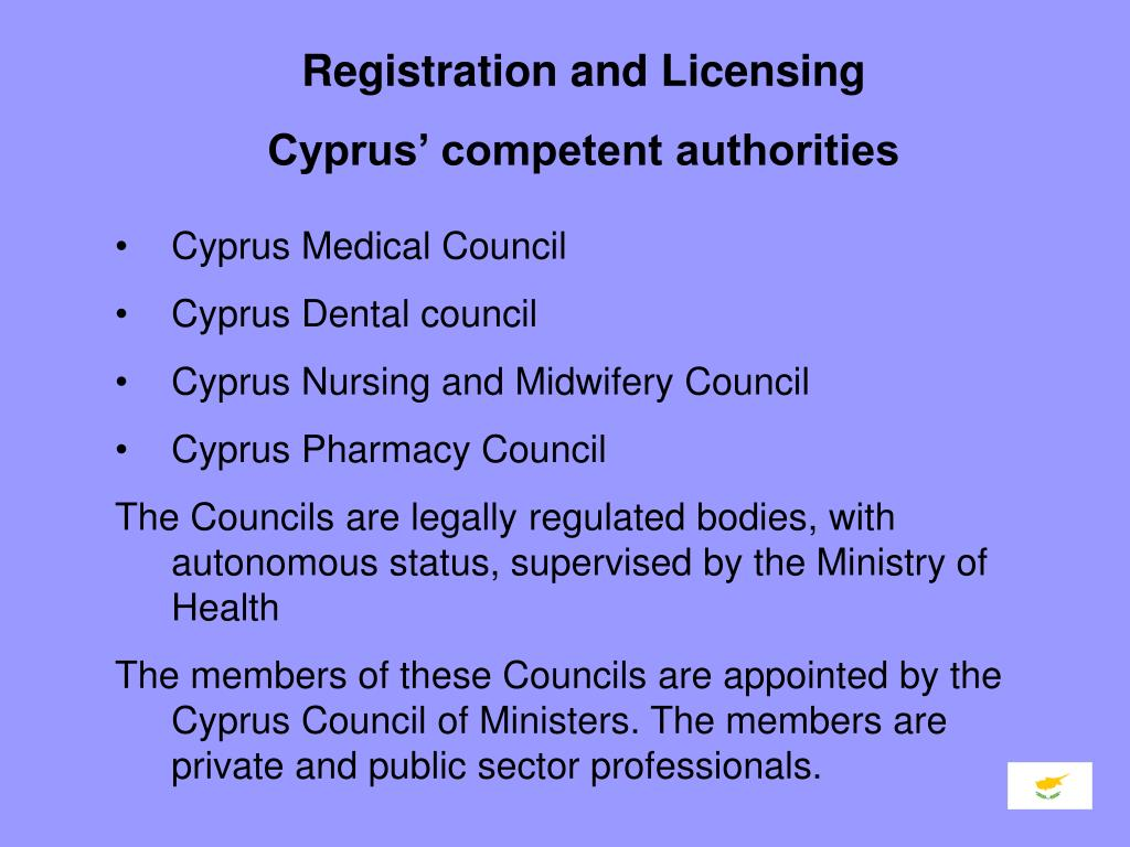 Registration and Licensing