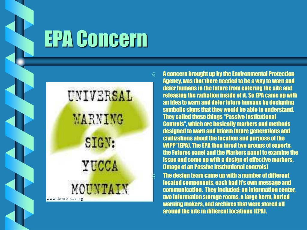 EPA Concern