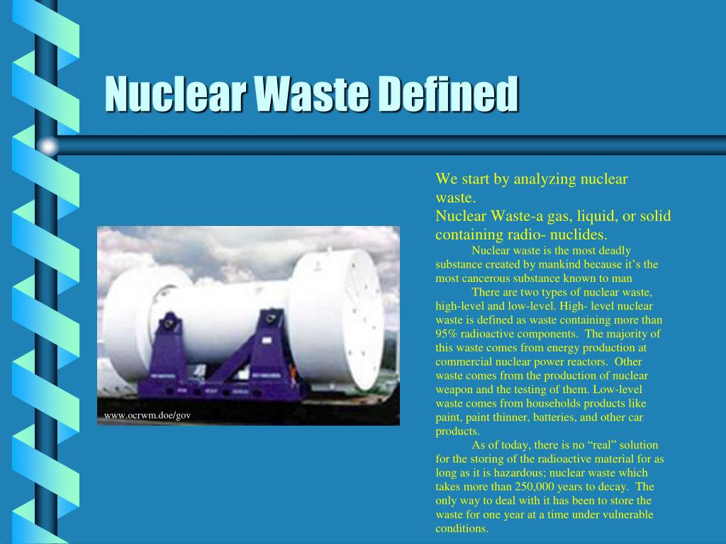 Nuclear Waste Defined