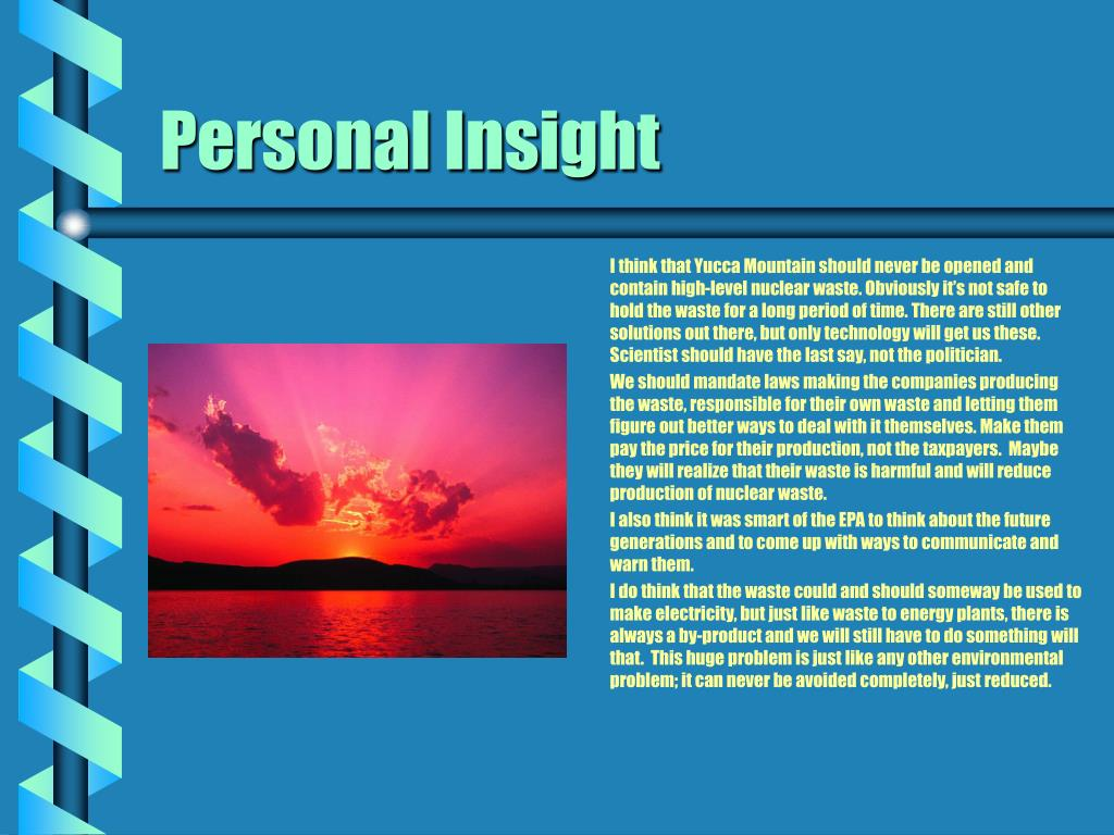 Personal Insight