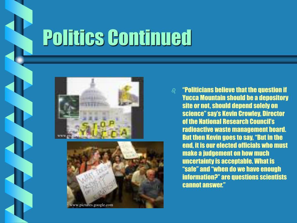Politics Continued