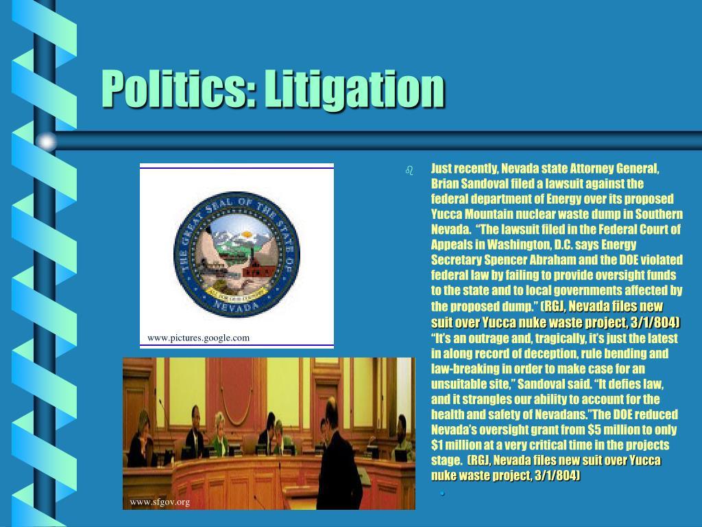 Politics: Litigation