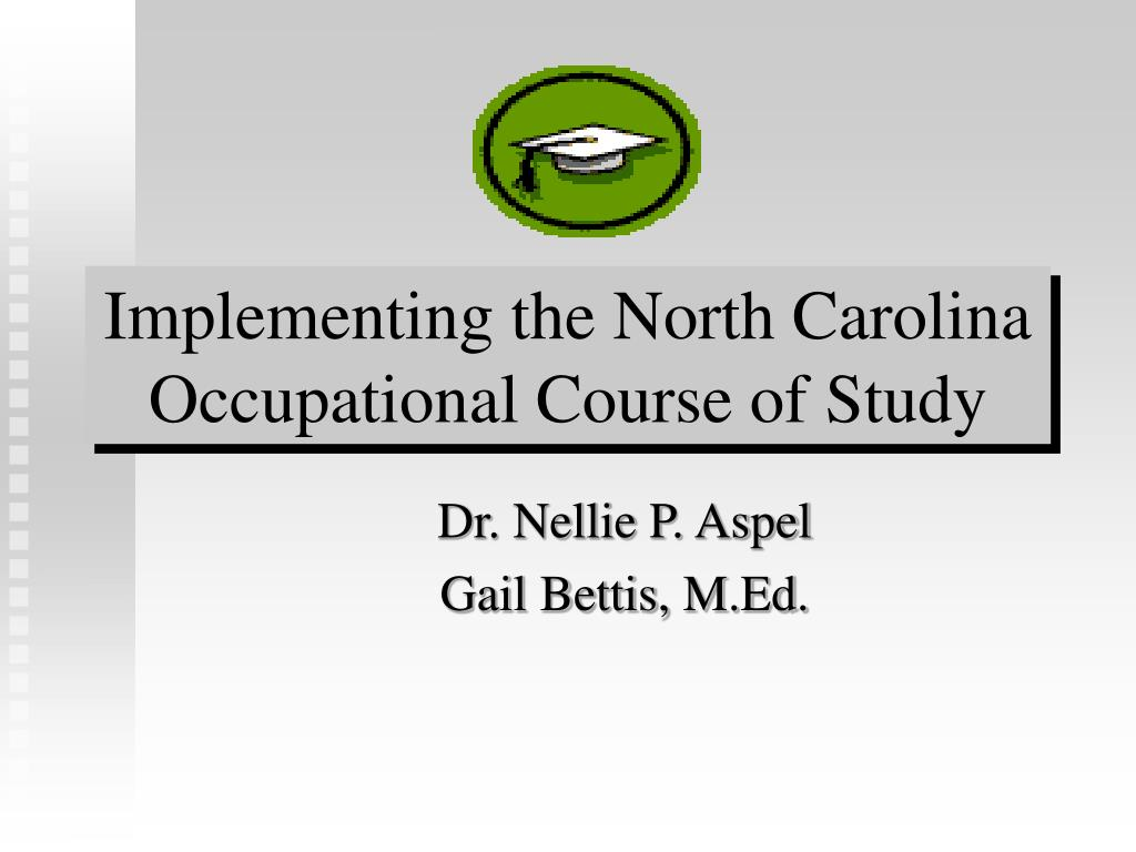 Implementing the North Carolina Occupational Course of Study