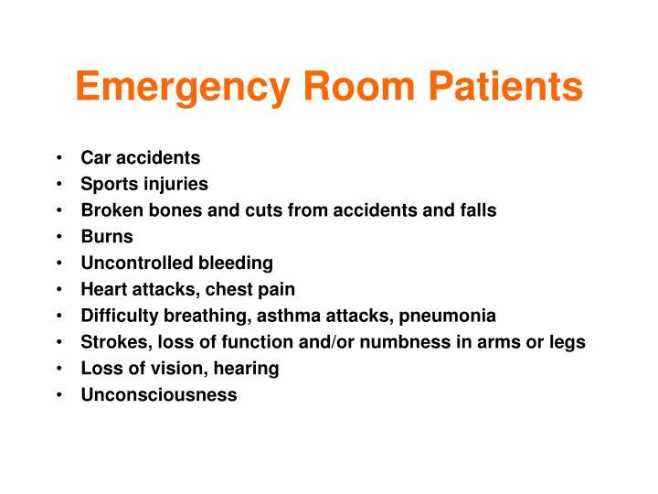 Emergency Room Patients