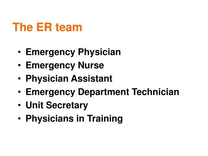 The ER team