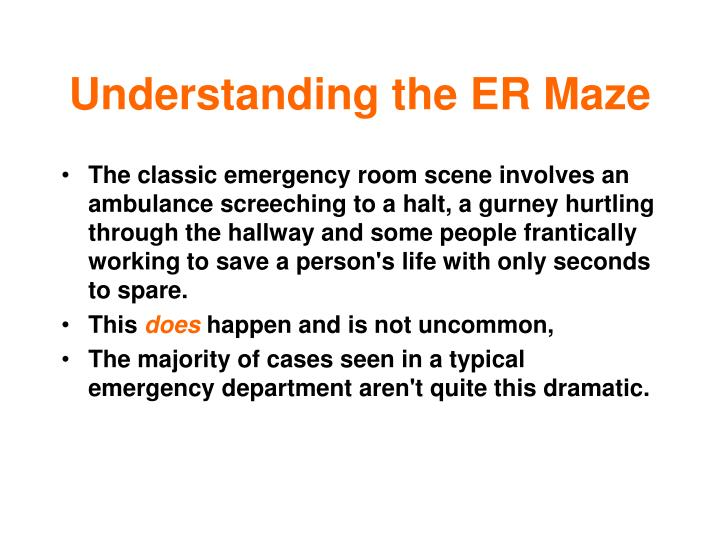 Understanding the ER Maze