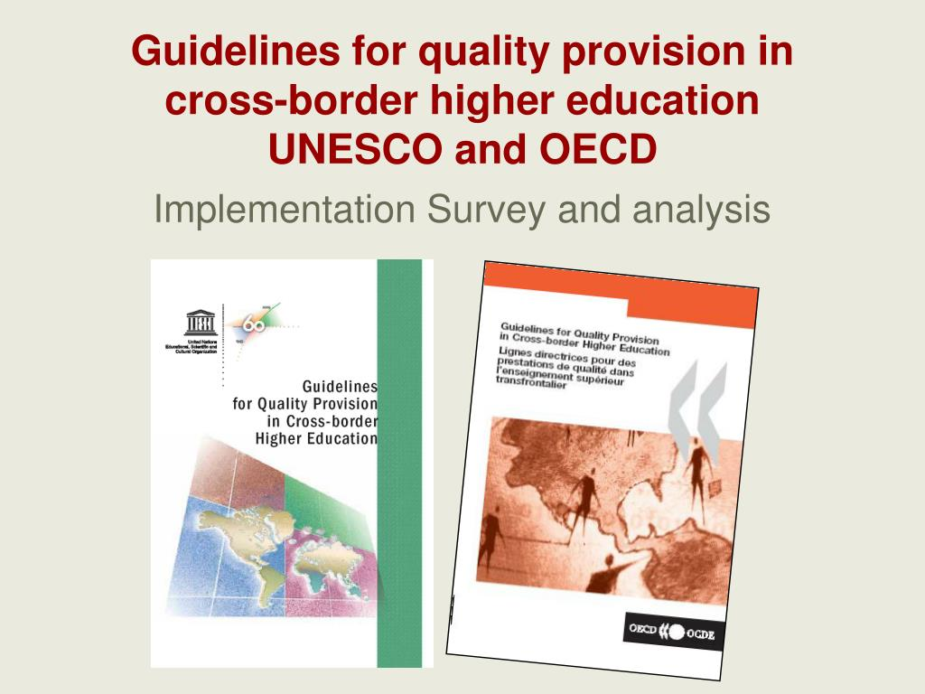 Guidelines for quality provision in cross-border higher education