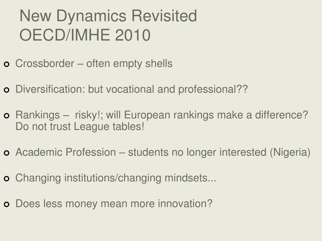 New Dynamics Revisited