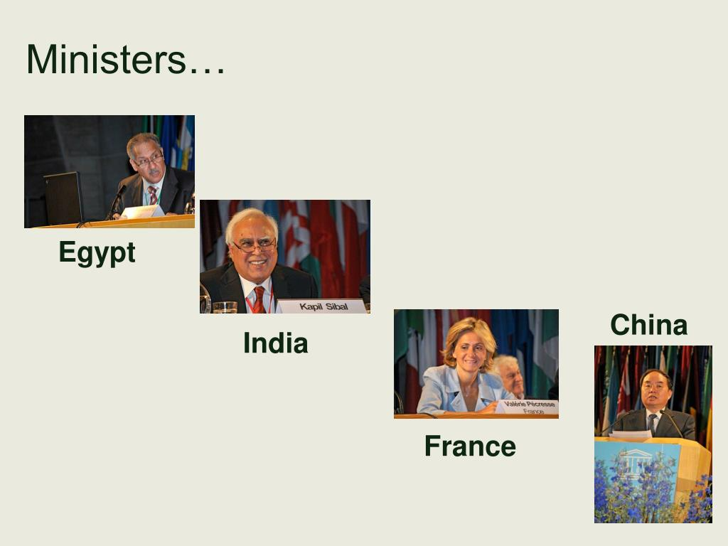 Ministers…
