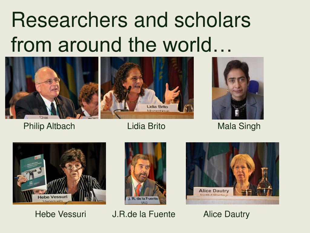 Researchers and scholars from around the world…