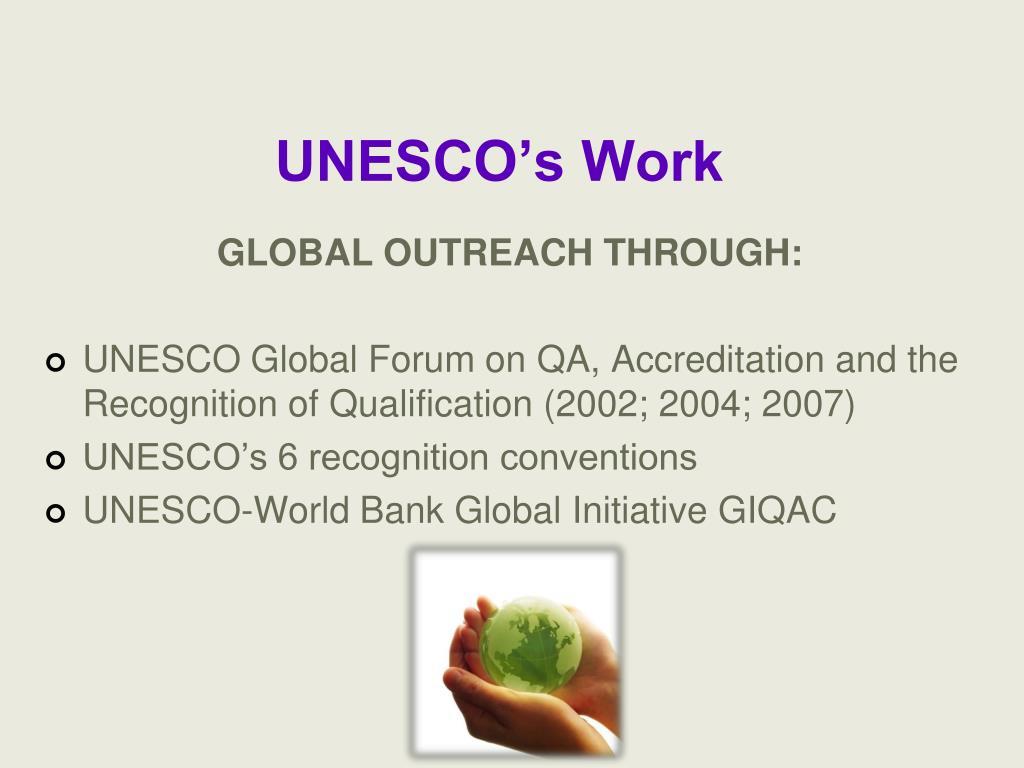 UNESCO's Work