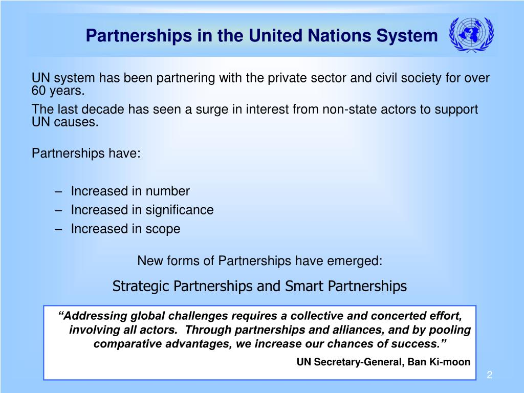 Partnerships in the United Nations System
