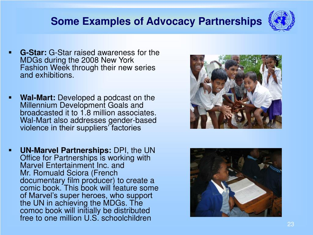 Some Examples of Advocacy Partnerships