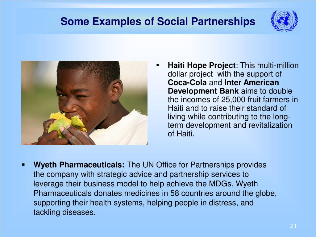 Some Examples of Social Partnerships