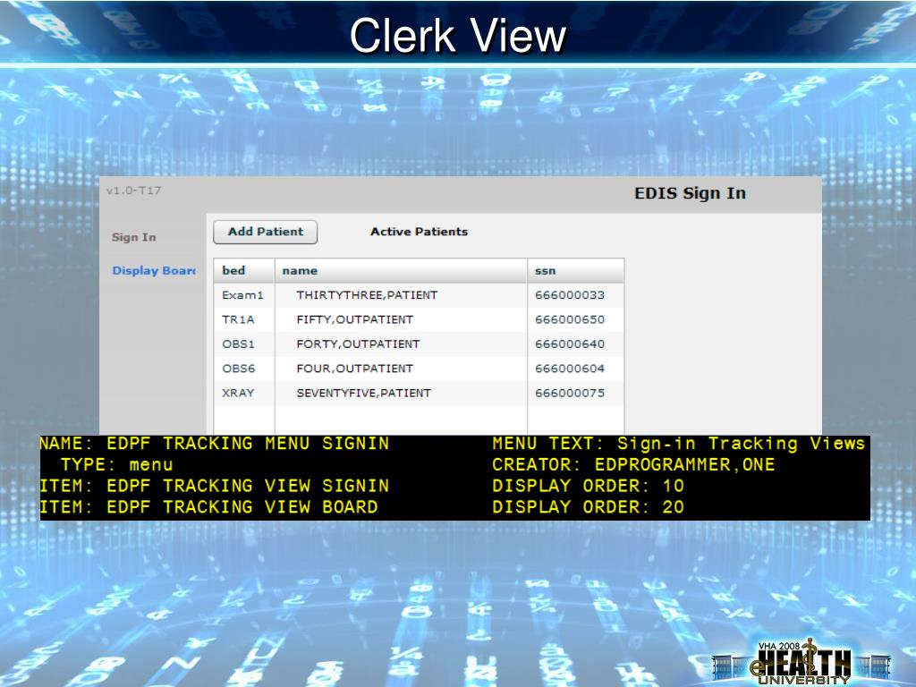 Clerk View