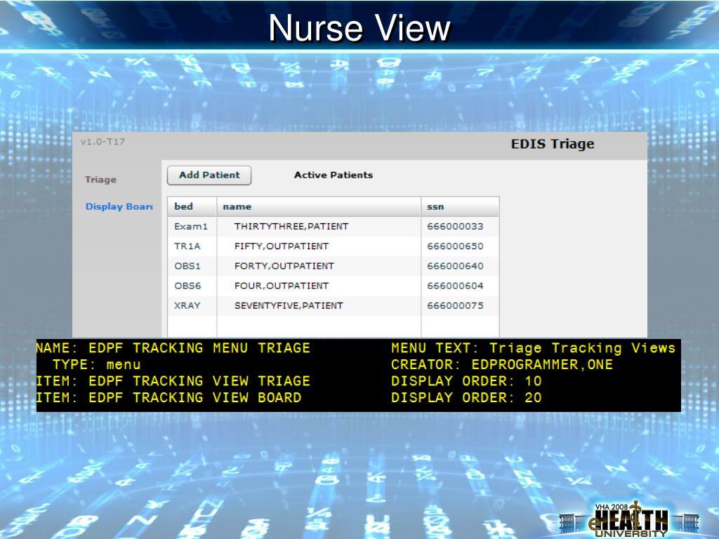Nurse View