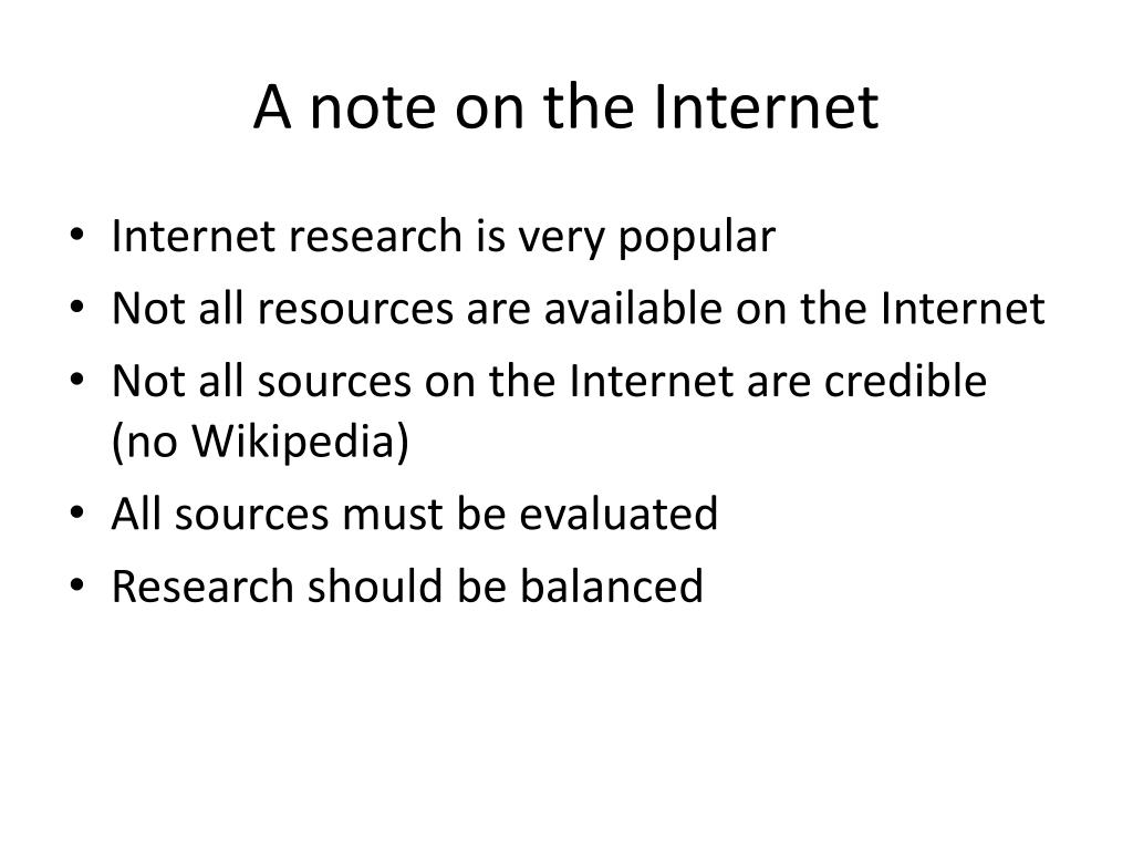 A note on the Internet