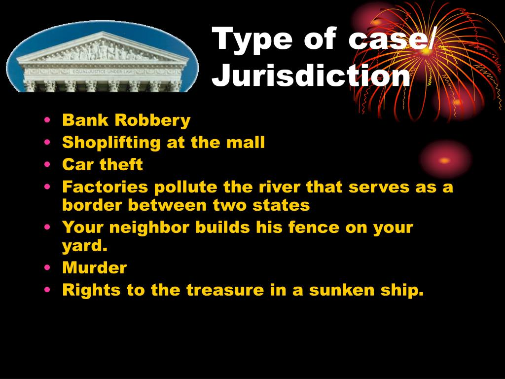 Type of case/ Jurisdiction