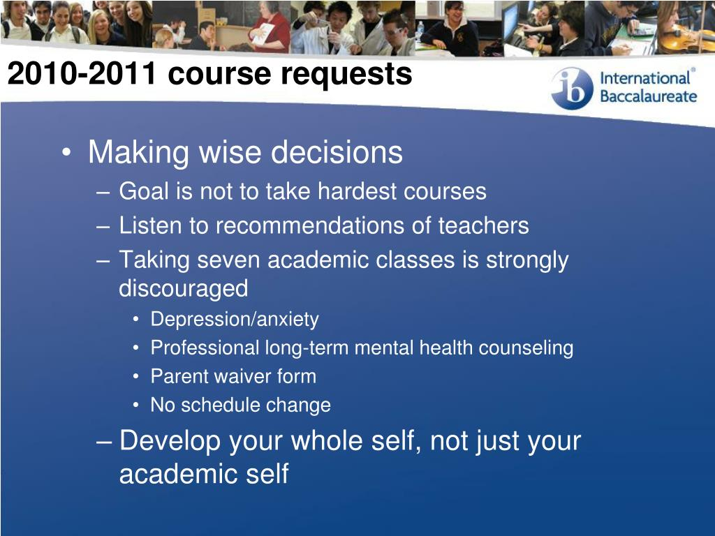 2010-2011 course requests