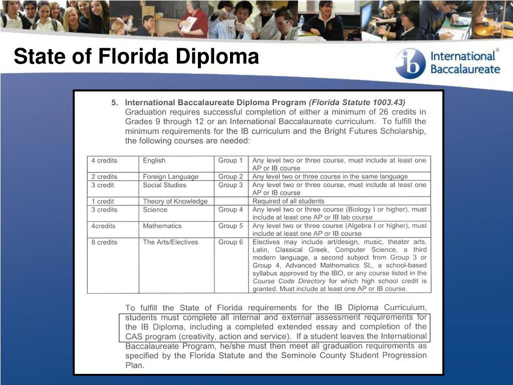 State of Florida Diploma