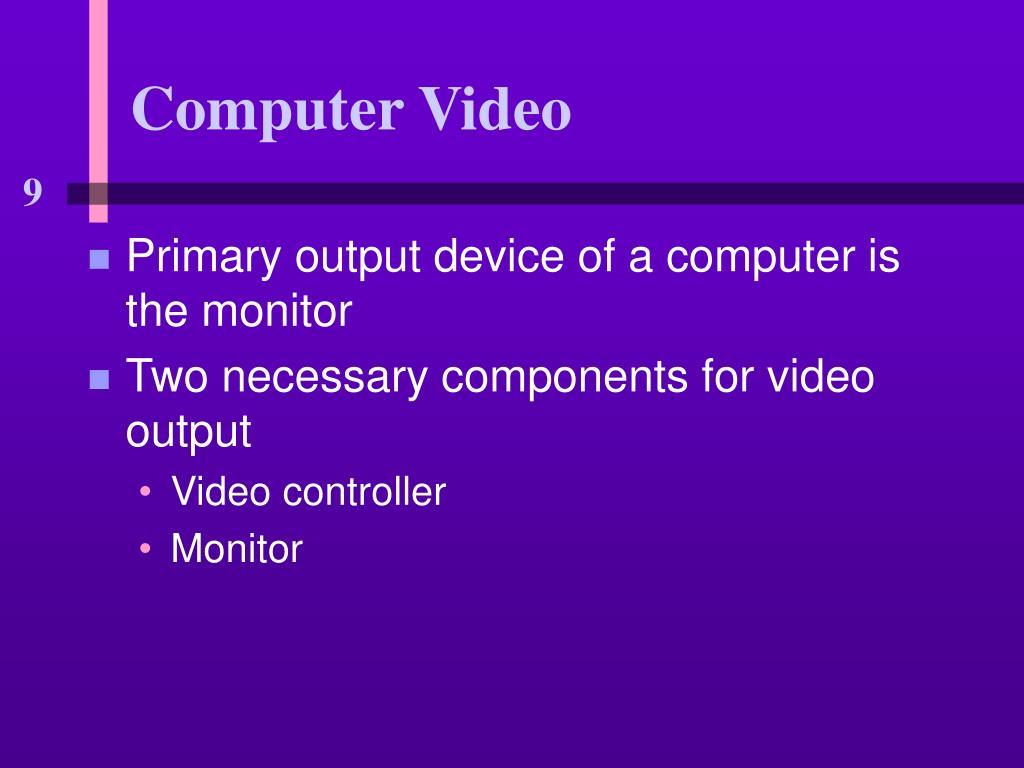 Computer Video