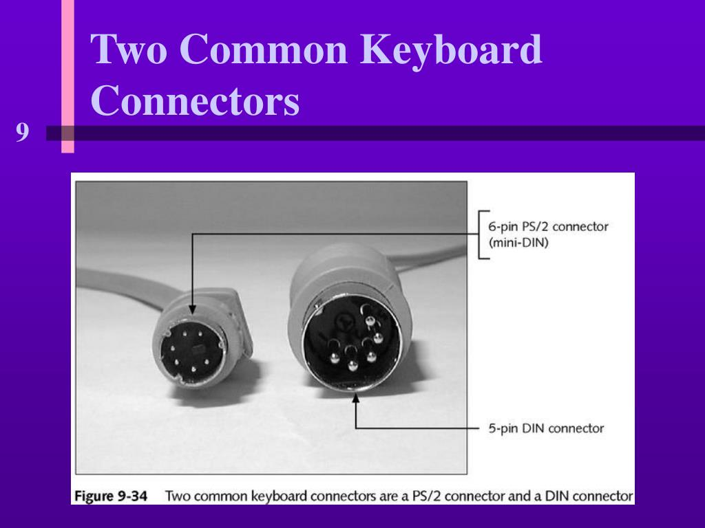 Two Common Keyboard Connectors