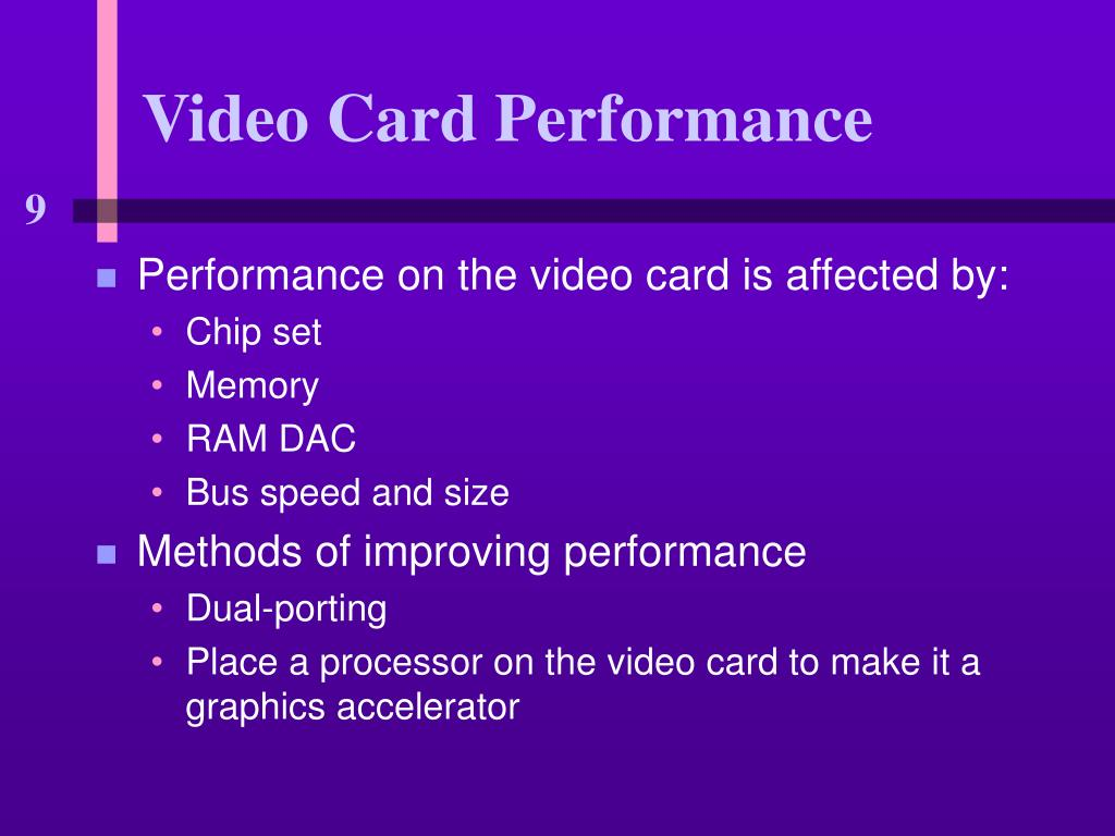 Video Card Performance