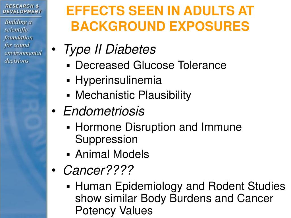 EFFECTS SEEN IN ADULTS AT BACKGROUND EXPOSURES
