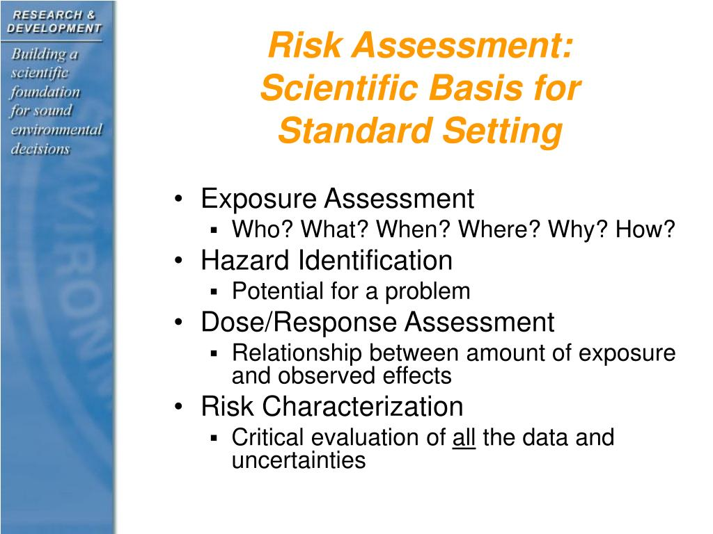 Risk Assessment:  Scientific Basis for Standard Setting