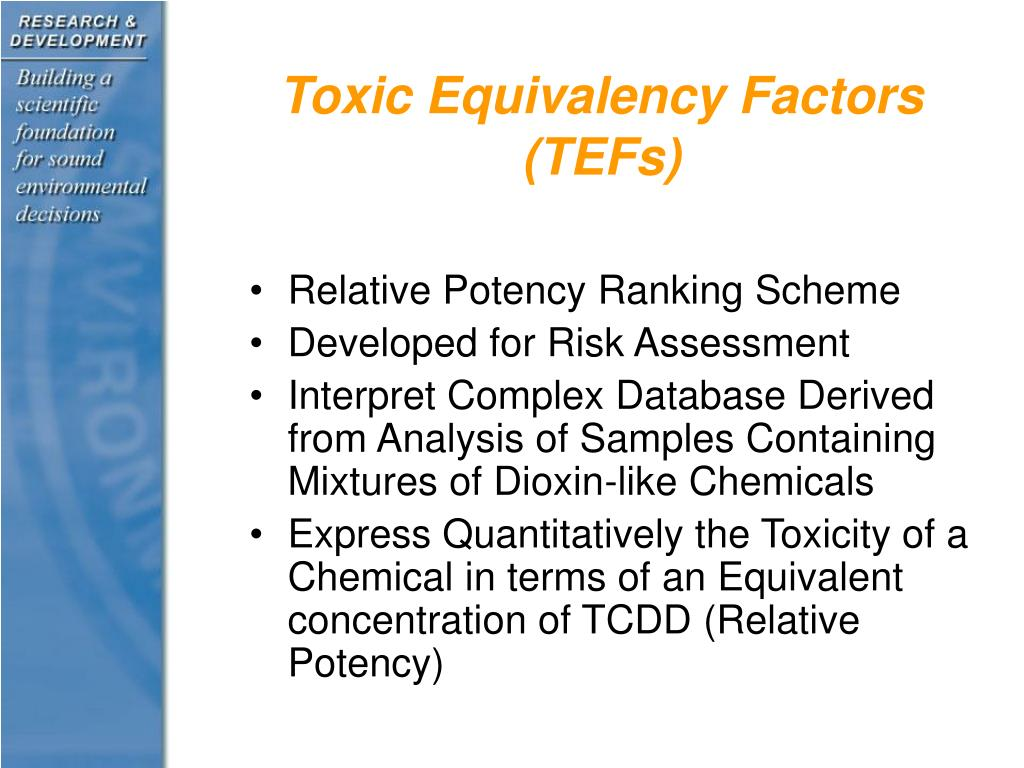 Toxic Equivalency Factors (TEFs)
