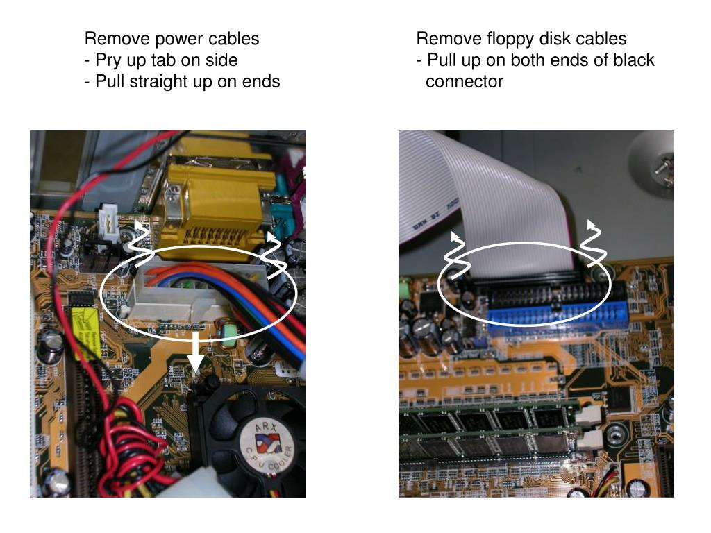 Remove power cables