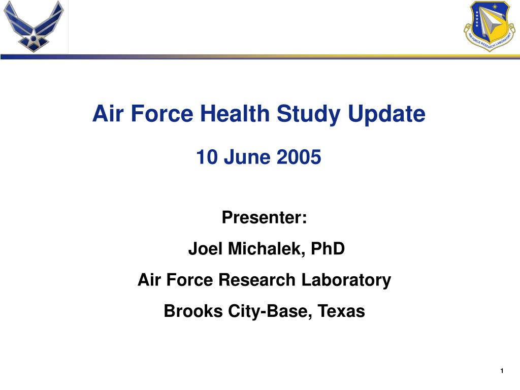 Air Force Health Study Update