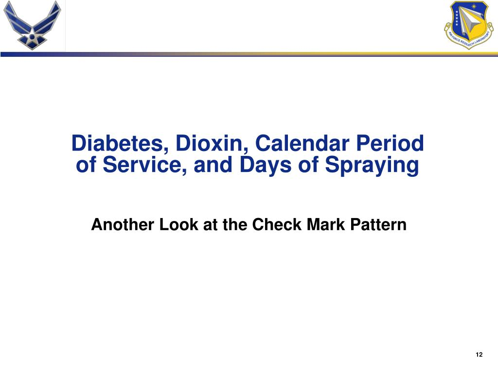 Diabetes, Dioxin, Calendar Period