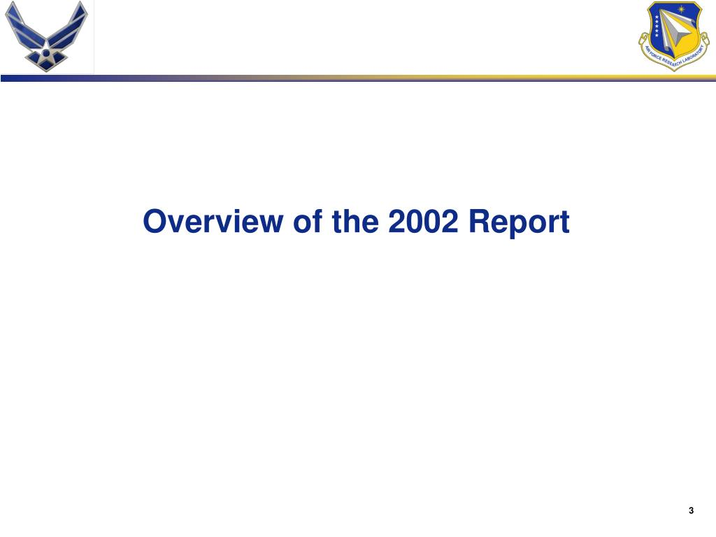 Overview of the 2002 Report