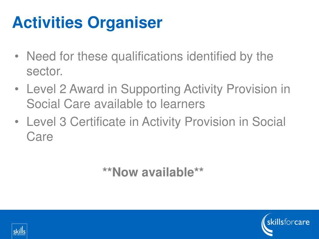 Activities Organiser