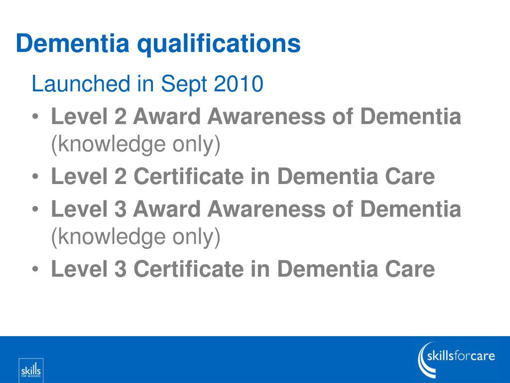 Dementia qualifications