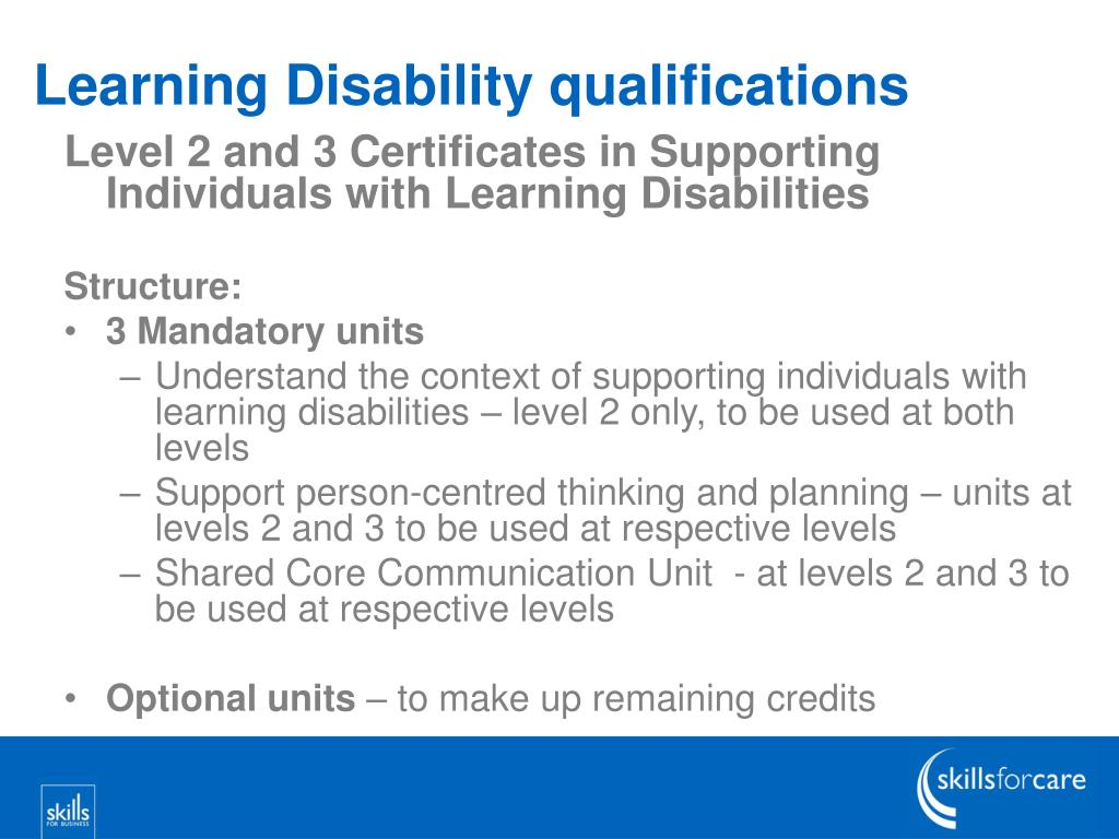 Learning Disability qualifications