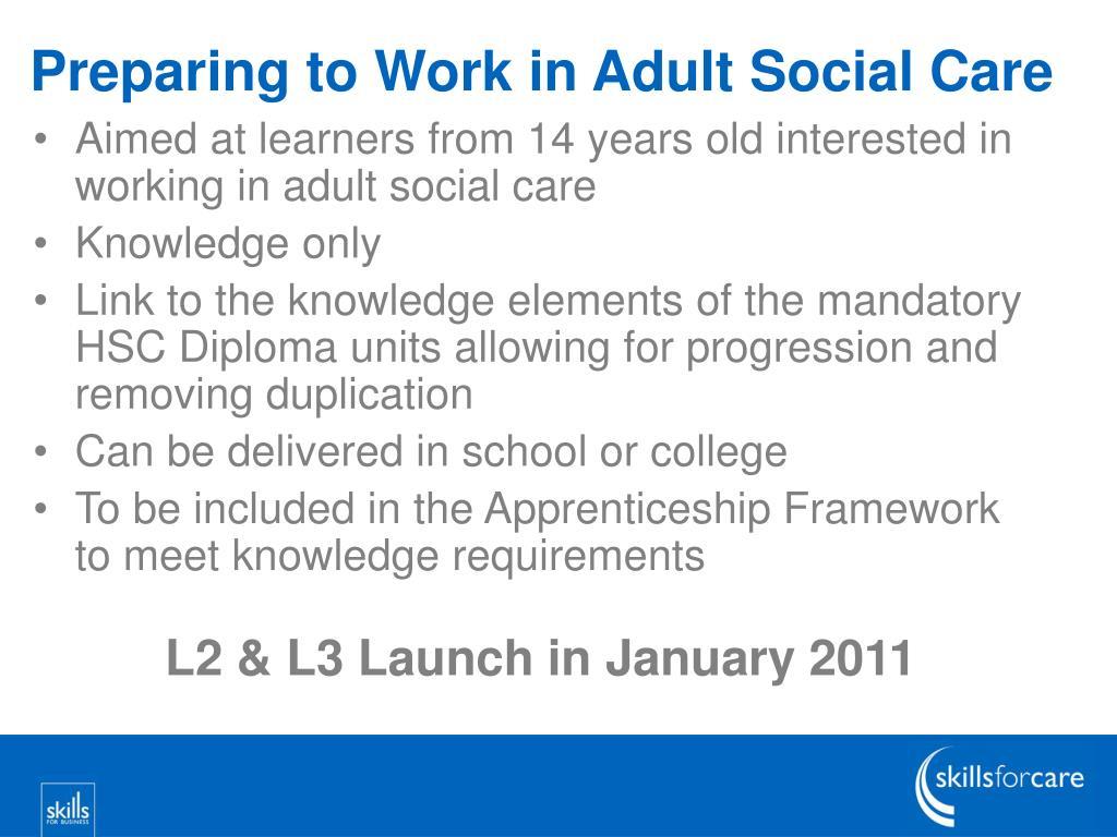 Preparing to Work in Adult Social Care