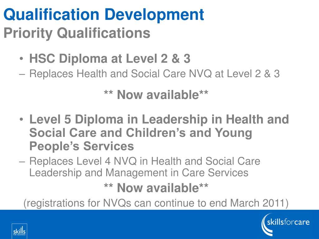 Qualification Development