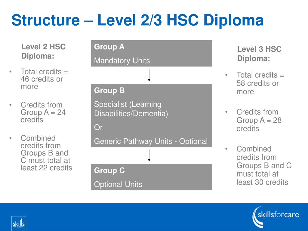 Structure – Level 2/3 HSC Diploma