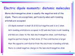 electric dipole moments diatomic molecules28