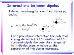 interactions between dipoles42