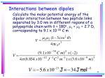 interactions between dipoles44
