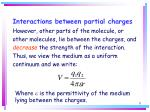 interactions between partial charges11