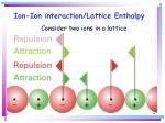 ion ion interaction lattice enthalpy