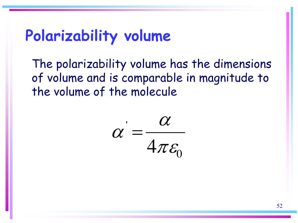 Polarizability volume