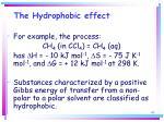 the hydrophobic effect65