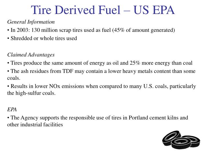Tire derived fuel us epa