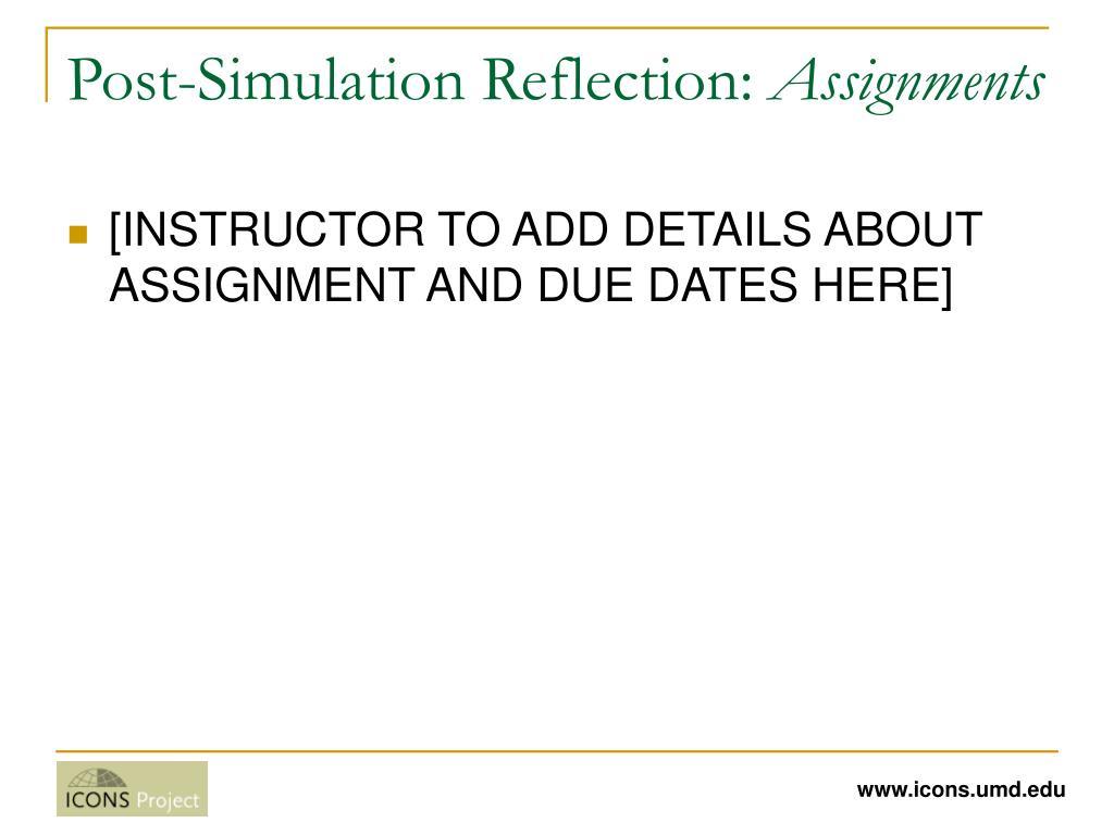 Post-Simulation Reflection: